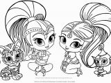 Shimmer and Shine Coloring Pages Online Pin by Michele Fox On Coloring Pages