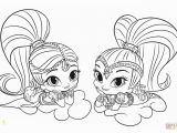 Shimmer and Shine Coloring Pages Online Shimmer and Shine Coloring Page