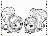 Shimmer and Shine Coloring Pages Online Shimmer and Shine Coloring Pages Printable