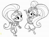 Shimmer and Shine Coloring Pages Online Shimmer Coloring Pages Coloring Home