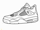 Shoe Coloring Pages Printable Air Jordan 4 Coloring Pages