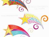 Shooting Star Coloring Page Colorful Groovy Shooting Stars Drawings by Thaneeya