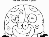 Sight Word Coloring Pages for Kindergarten 1 500 Ladybugs