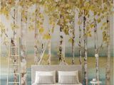 Silver Birch Wall Mural 3d 5d 8d Europe Silver Birch Tree Wallpaper Mural Living Room Tv