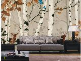 Silver Birch Wall Mural Custom Any Size White Birch Retro Wall Mural 3d Wallpaper 3d Wall