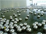 "Silver orbs Wall Mural 10"" Floating Silver Mirror Balls Spheres $39 Each Put In"