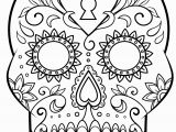 Simple Day Of the Dead Coloring Pages Day Of the Dead Sugar Skull Coloring Page