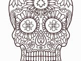 Simple Day Of the Dead Coloring Pages Day the Dead Skulls Coloring Pages Coloring Home