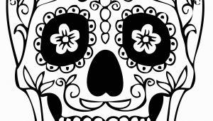 Simple Day Of the Dead Coloring Pages Dia De Los Muertos Day Of the Dead for Children Dia De