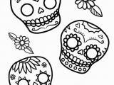 Simple Day Of the Dead Coloring Pages Dia De Los Muertos Day Of the Dead Free to Color for