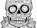 Simple Day Of the Dead Coloring Pages Dia De Los Muertos Day Of the Dead to Color for Children