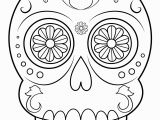 Simple Day Of the Dead Coloring Pages Print Sugar Skull Simple Easy Coloring Pages
