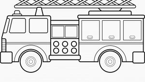 Simple Fire Truck Coloring Page 12 Luxury Fire Truck Coloring Page