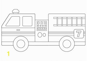 Simple Fire Truck Coloring Page Fire Engine Template for the Boy Pinterest