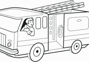 Simple Fire Truck Coloring Page Simple Truck Coloring Pages Fire Trucks Color Print Free Colouring