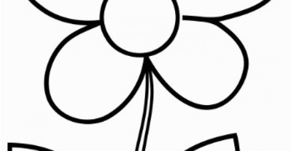 Simple Flower Coloring Pages Simple Flower Coloring Page Cute Flower