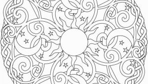 Simple Geometric Designs Coloring Pages Celestial Mandala Box Card and Coloring Page