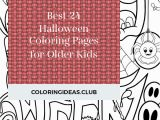 Simple Halloween Coloring Pages Best 24 Halloween Coloring Pages for Older Kids Best