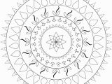 Simple Mandala Coloring Pages Printable Simple Mandala Coloring Page