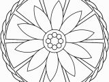 Simple Mandala Coloring Pages Printable Simple Mandalas Coloring Pages