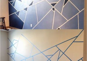 Simple Painted Wall Murals Abstract Wall Design I Used One Roll Of Painter S Tape and