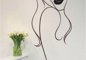 Simple Painted Wall Murals Beauty Salon Wall Art Decal Sticker