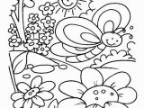 Simple Spring Coloring Pages Printable Spring Time Coloring Pages