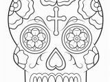 Simple Sugar Skull Coloring Pages Calavera Sugar Skull Coloring Page From Sugar Skulls