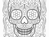 Simple Sugar Skull Coloring Pages Color Pages Coloring Book Printable Pages Free Skull for