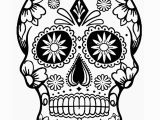 Simple Sugar Skull Coloring Pages Coloring Book Printable Sugar Skull Coloring Pages
