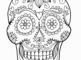 Simple Sugar Skull Coloring Pages Coloring Sugar Skull Coloring Sheet for Adult