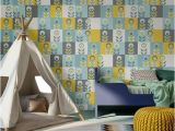 Simple Wall Mural Designs Geometric Floral Wall Mural Looks Lovely In This Kids Room Don T
