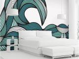 Simple Wall Mural Paintings Items Similar to Wall Mural Decal Sticker Bristle Ocean Wave