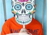 Skeleton Mask Coloring Page Day Of the Dead Mask Printable