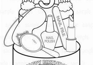 Sleepover Coloring Pages to Print Personalized Printable Rainbow Spa Party Cake Favor Childrens Kids
