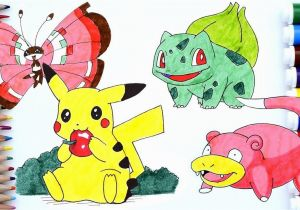 Slowpoke Coloring Pages Pokemon Pikachu Coloring Pages Pichu Slowpoke Bulbasaur Vivillon