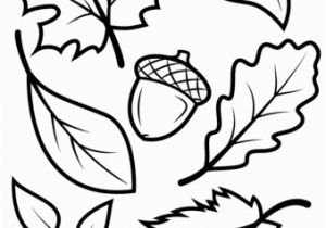 Small Fall Leaves Coloring Pages Fall Leaves and Acorn Coloring Page From Fall Category Select From