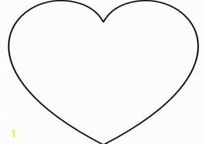 Small Heart Coloring Pages Super Sized Heart Outline Extra Printable Template