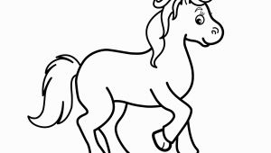Small Horse Coloring Pages Little Horse Cartoon Animals Coloring Pages for Kids