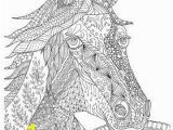 Small Horse Coloring Pages Zentangle Horse Coloring Page for Adults Plus Bonus Easy
