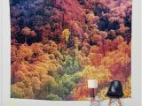 Smoky Mountain Wall Murals Autumn Leaves Wall Tapestry Surreal Wall Art Fall Colors