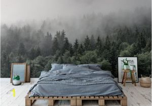 Smoky Mountain Wall Murals the Mountains are Calling Wallpaper Mural Foggy Mountain Wall Mural Romantic Smoky Wall Decal Hill Wall Covering Mist Trees