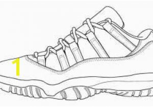 Sneaker Coloring Page Printable Collection Of Jordan Shoe Coloring Pages
