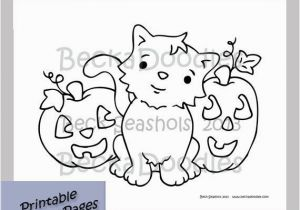 Snoopy Halloween Coloring Pages Halloween Printable Coloring Page Pumpkins Cats by