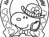 Snoopy St Patrick S Day Coloring Pages Beachy St Patrick Snoopy All Saint Day Coloring Page