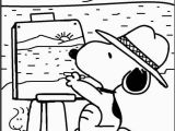 Snoopy St Patrick S Day Coloring Pages Snoopy the Painter Coloring Picture for Kids