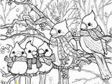 Snow Coloring Pages for toddlers Birds In Winter Snow