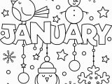 Snow Coloring Pages for toddlers Happy New Year January Colouring Page