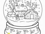 Snow Coloring Pages for toddlers Printable Christmas Snow Globe Coloring Pages for Kids