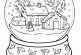 Snow Coloring Pages for toddlers Winter Coloring Pages Snow Globe Coloringstar